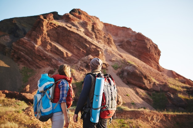 Пара в гранд-каньоне