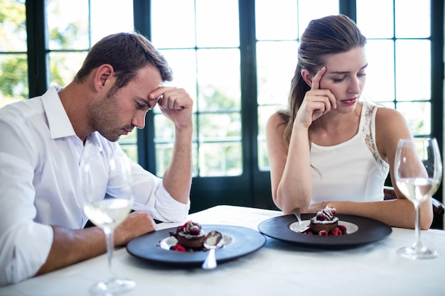 Couple into an argument on a date
