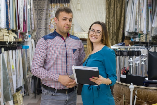 Couple is man and woman, owners of small family business
