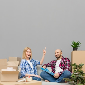 Couple moving to a new house