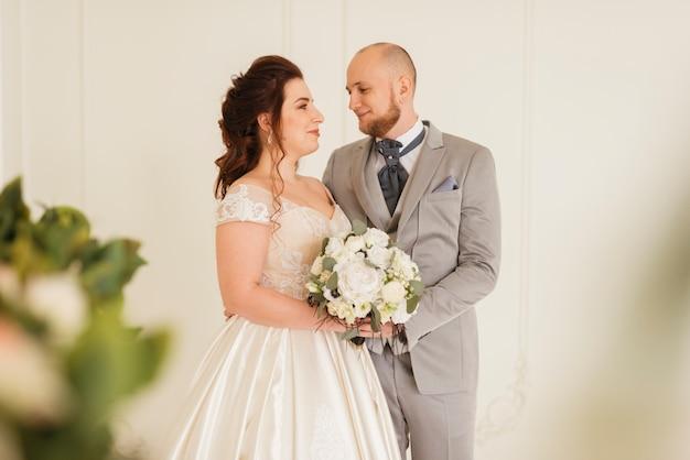 Couple of newlyweds posing