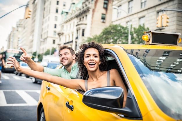 맨하탄에서 택시에 커플
