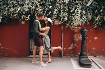Couple on honeymoon in Venice
