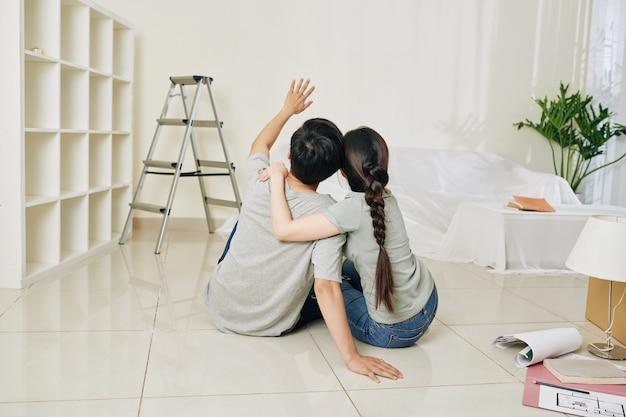 Couple planning renovation