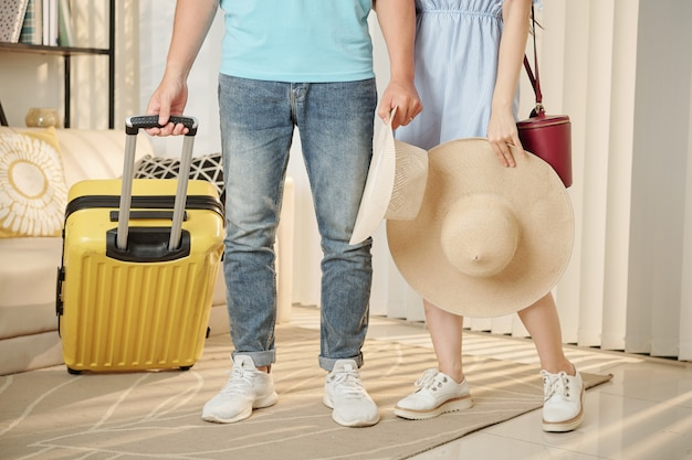 Couple ready for vacation