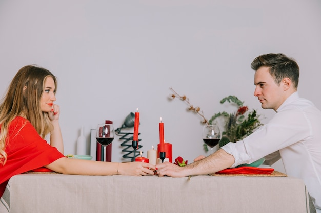 Couple on romantic dinner