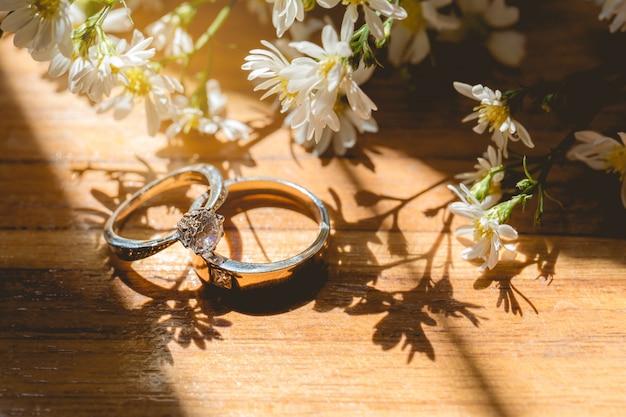 Couple's wedding rings
