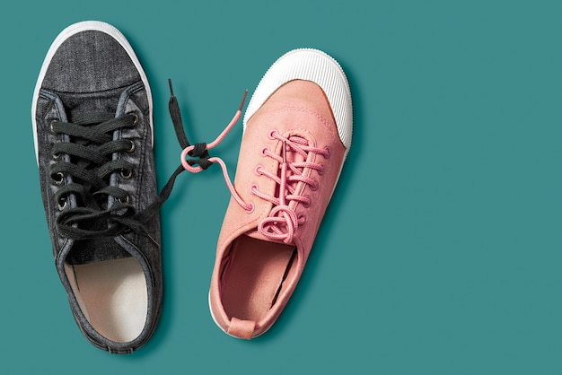 Couple shoes isolated