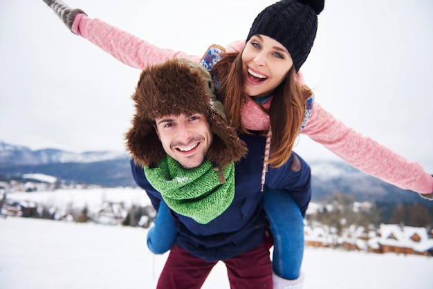Couple spending great time together