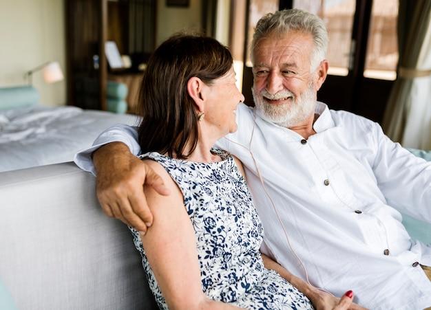 Пара проводит свой отпуск на курорте