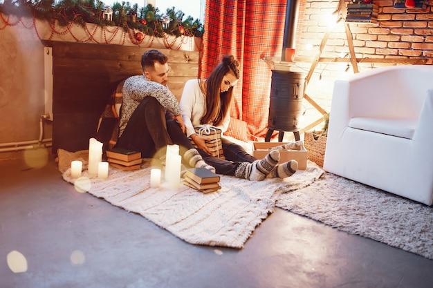 Couple in studio