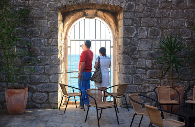 Couple of tourists in dubrovnik