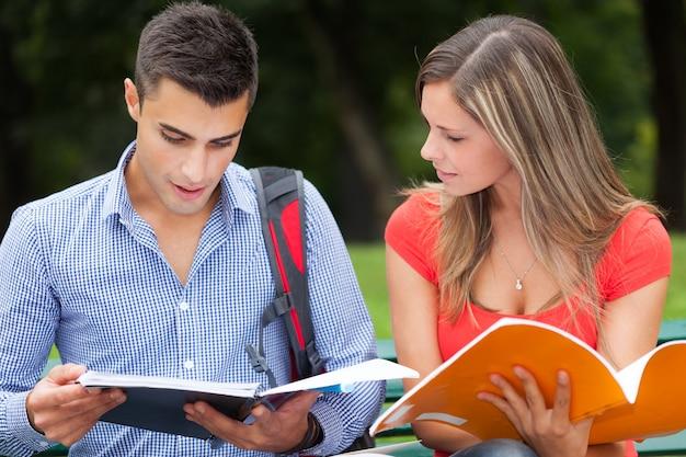 Couple of university students