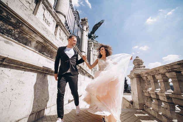Couple wedding in budapest