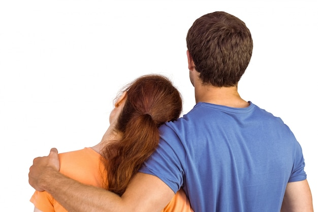 Couple with backs to camera