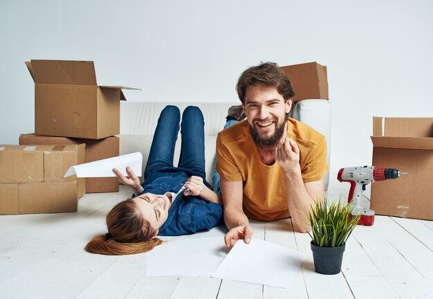 移動するボックスとカップル