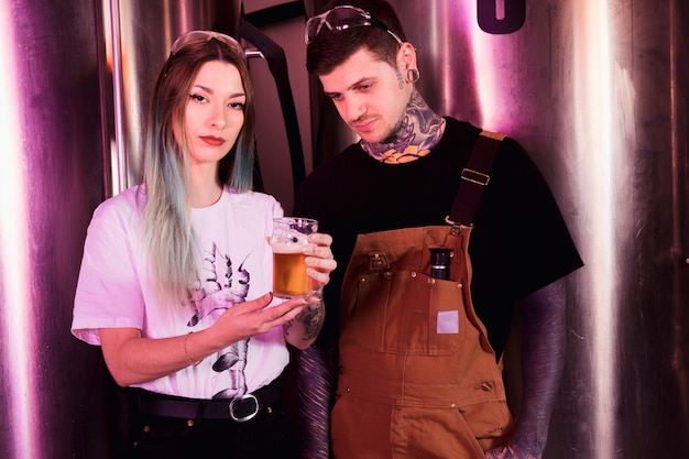 Couple with craft beer