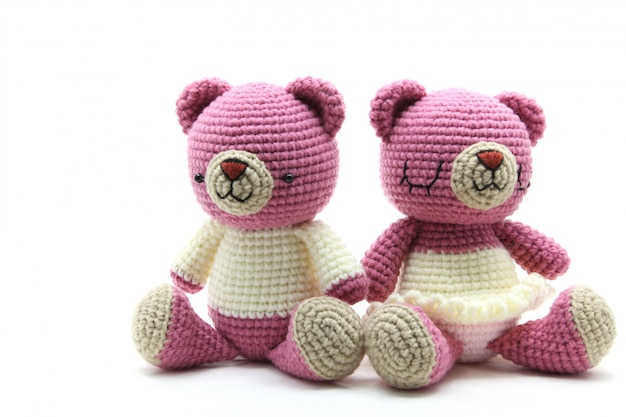 Couples bear doll