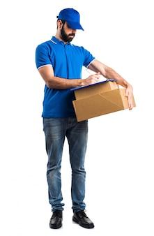 Courier box workman fragile man