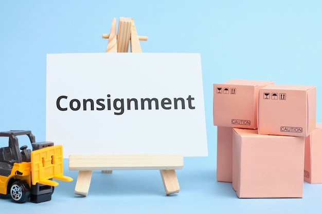 Courier industry term consignment. delivery of a group of goods.