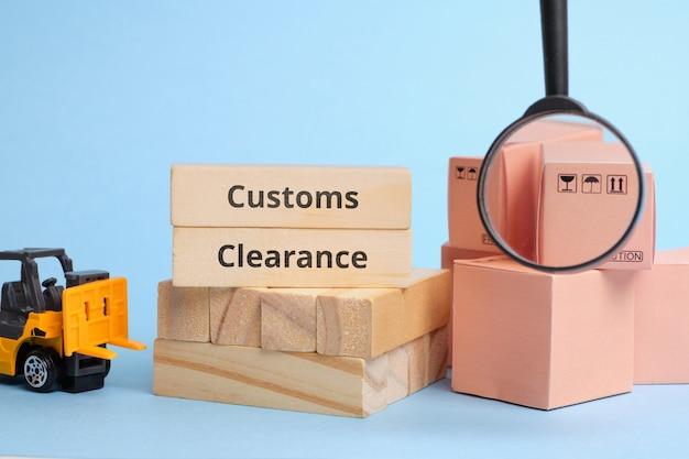택배 산업 기간 통관. 세금을 포함한 배송시 국경에서의화물 통관.