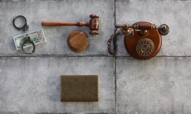 コンクリートの裁判所のガベル