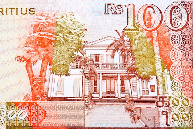 Courthouse and trees from mauritian money