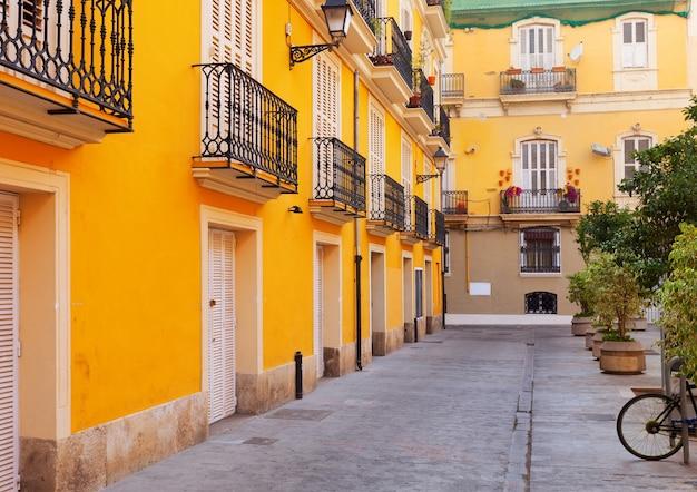 스페인 도시 안뜰. 발렌시아