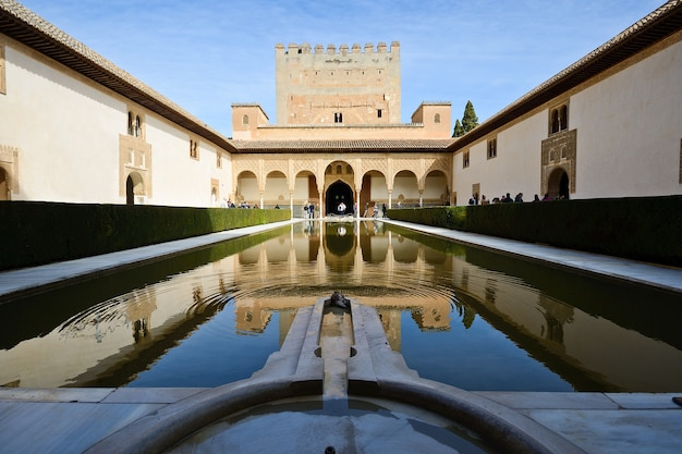 Courtyard of the myrtles in alhambra