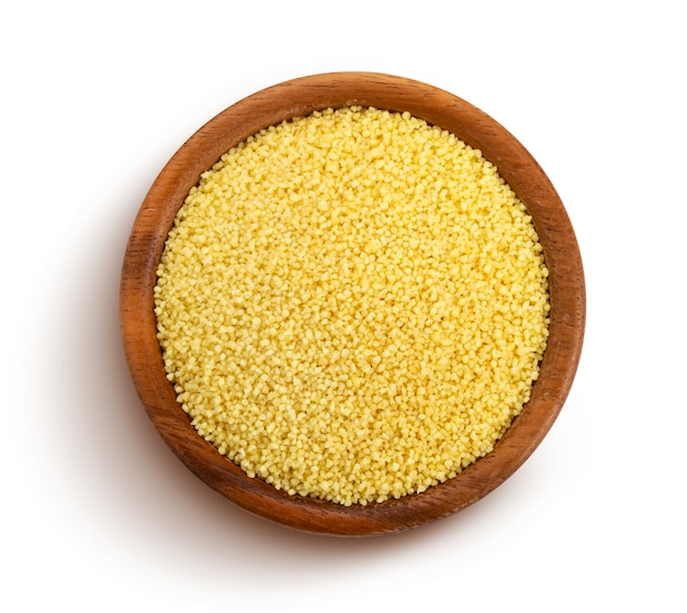Couscous isolated with clipping path