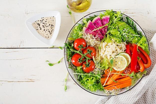Couscous and vegetables bowl.