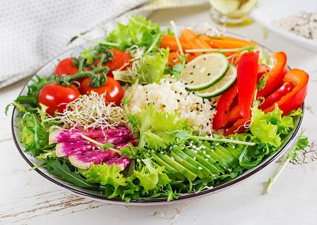 Couscous and vegetables bowl