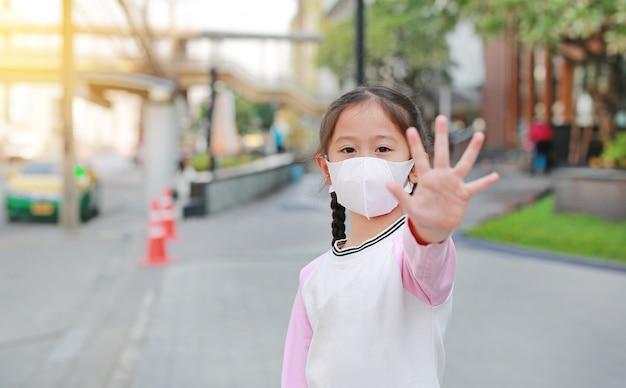 Covid-19と大気汚染防止のコンセプト。