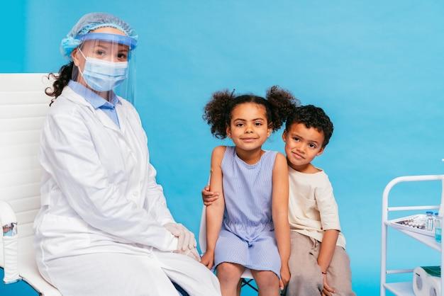 Covid-19 ( coronavirus) vaccination campaign in a clinic