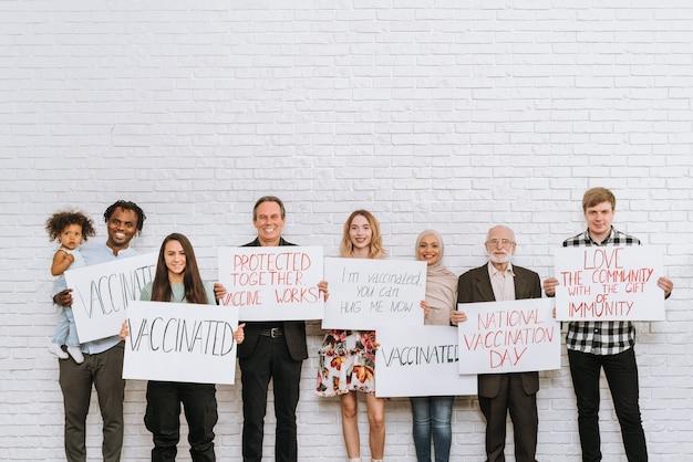 クリニックでのcovid-19(コロナウイルス)ワクチン接種キャンペーン