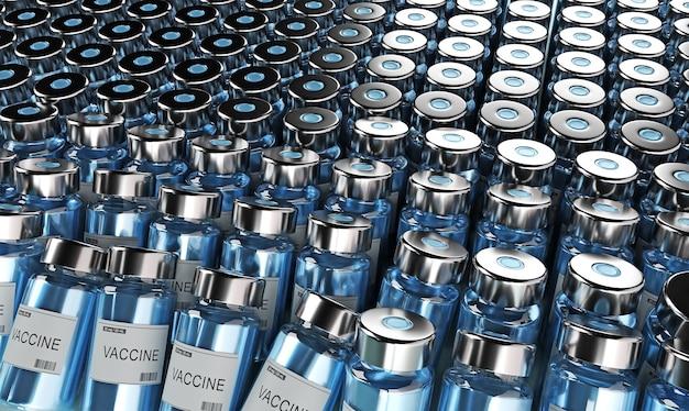 Фон флакона вакцины против коронавируса covid-19