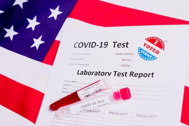 米国での2020年11月の選挙では、病人に対するcovid-19テストがアメリカの政治に影響を与えます。