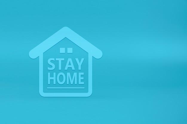 Оставайтесь дома безопасные значки на деревянном игрушечном блоке. концепции здоровья и медицинской профилактики коронавируса или инфекции covid-19.