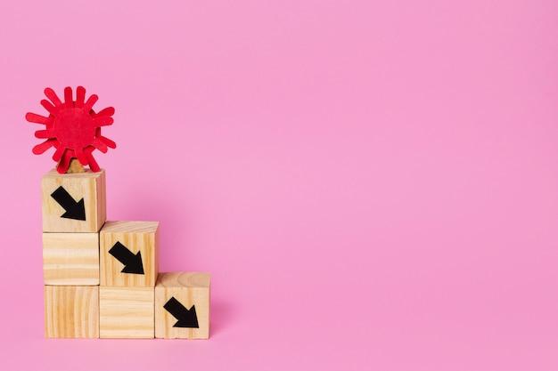 Концепция covid с кубиками и копией пространства