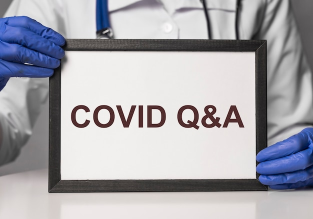 Covid q и концепция qna текстового коронавируса