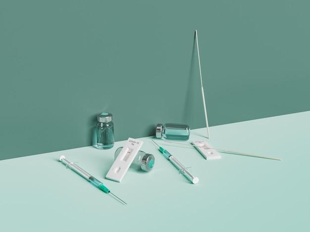 코로나 신속 테스트 및 예방 접종 키트