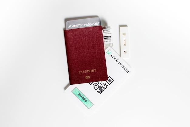 Серологический экспресс-тест на covid в паспорте для поездки во время изоляции