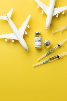 백신이 있는 코비드 정물