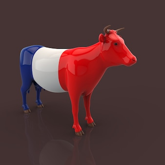 Cow concept - 3d illustration