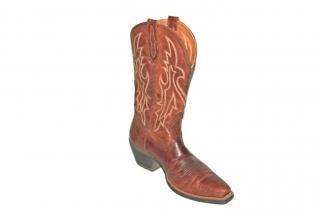 Cowboy boots, worn