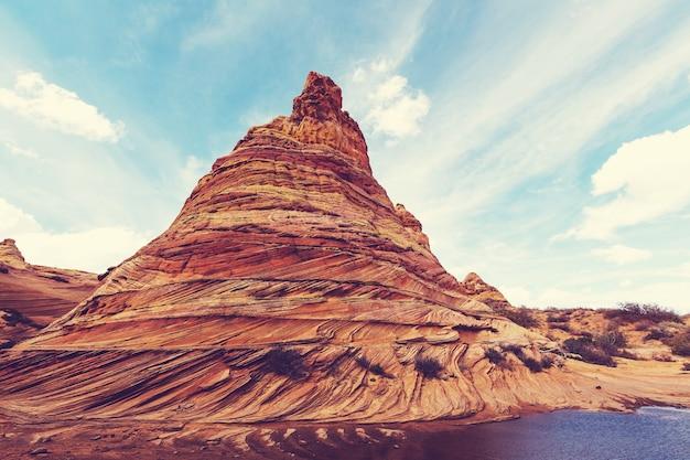 Vermillion cliffs wilderness area, 유타 및 애리조나의 코요테 뷰트