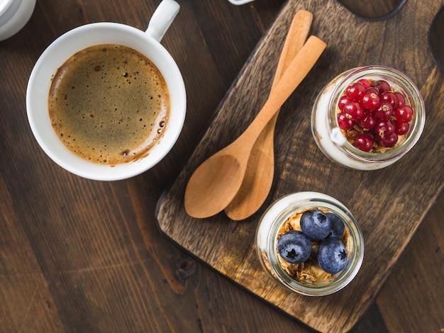 Cozy breakfast food concept