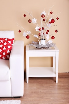 Уютный новогодний домашний интерьер