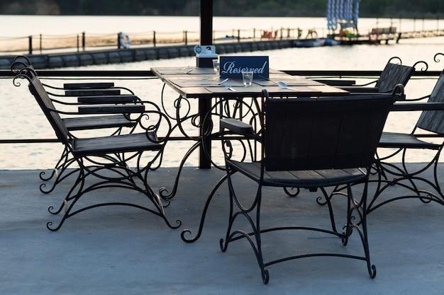 Cozy outdoor cafe
