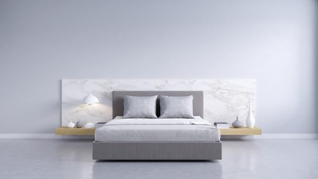 Cozy white and gray room minimalist